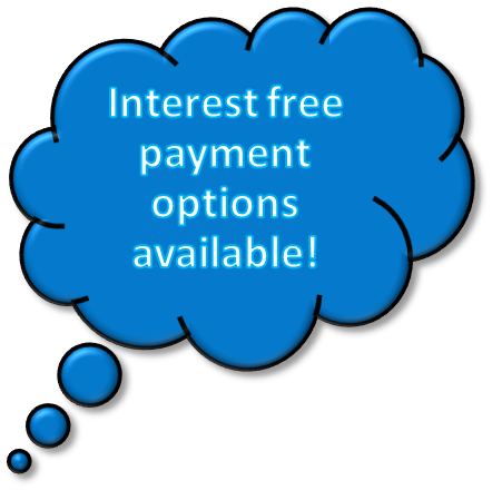 Interest free payment options available!